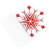 Red snowflake in the cut paper. eps10 Stock Photos