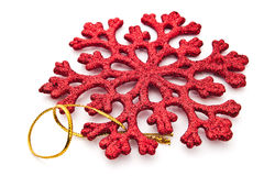 Red snowflake decoration Stock Photography