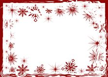 Red snowflake frame Royalty Free Stock Photography
