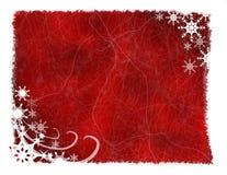 Red Snowflake Grunge Background Royalty Free Stock Image