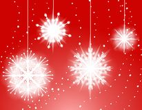 Red Snowflake Ornaments Stock Photography