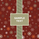 Red snowflake pattern Royalty Free Stock Images