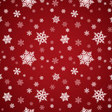 Red Snowflake Seamless Pattern Royalty Free Stock Images