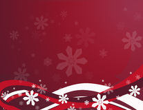 Red Snowflake Swirls. Stylized abstract swirls and snowflakes. A beautiful background in red Royalty Free Stock Images