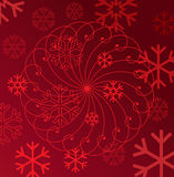Red snowflakes Royalty Free Stock Photos