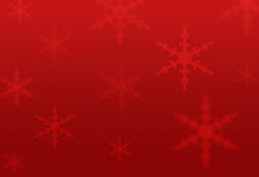 Red snowflakes background Stock Images