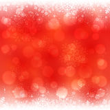 Red snowflakes background Royalty Free Stock Photos