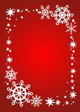 Red snowflakes border Royalty Free Stock Image