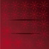 Red snowflakes Stock Photos