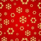 Red Snowflakes pattern for continuous replicate. Vector. Illustration Royalty Free Stock Photo