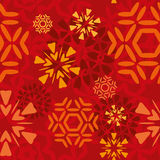Red Snowflakes Pattern. Red seamless snowflakes pattern tile Royalty Free Stock Photos