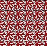 Red snowflakes seamless pattern Royalty Free Stock Image