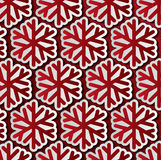 Red snowflakes seamless pattern. Red snowflakes. Winter seamless pattern Stock Images