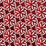Red snowflakes seamless pattern Stock Images