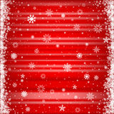 The red snowy background Stock Photo