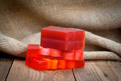Red soap bars Royalty Free Stock Photo