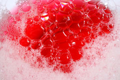 Red soap Bubbles Stock Photos