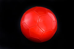 Red soccer ball Royalty Free Stock Photos