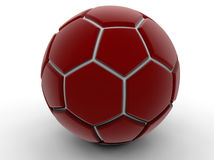 Red soccer ball Royalty Free Stock Images