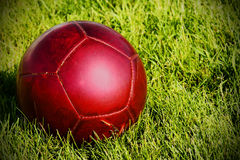 Red soccer ball Stock Image
