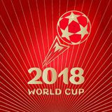 2018 Red soccer ball red wallpaper Stock Images