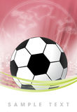 Red soccer brackground Royalty Free Stock Images