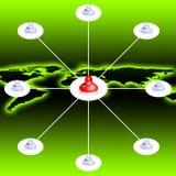 Red social (01) ilustración del vector