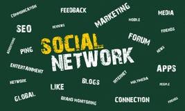 Red social Imagen de archivo libre de regalías