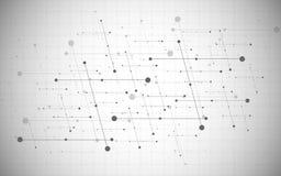 Red social creativa global del vector Fondo poligonal abstracto con las líneas y los puntos libre illustration