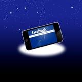 Red social de Facebook en el equipo móvil stock de ilustración