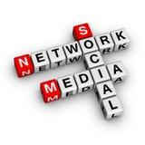 Red social de los media Foto de archivo