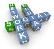 red social de los media 3d Fotos de archivo