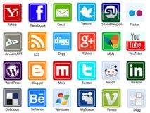 Red social de los media ilustración del vector