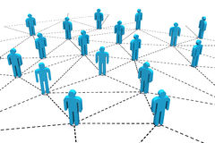 Red social humana del negocio Foto de archivo
