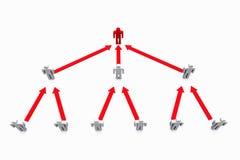 Red social humana del negocio Imagen de archivo