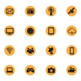 Red social, icono de la comunicación Imágenes de archivo libres de regalías