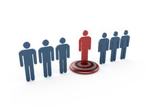 Red Social Man on Target Royalty Free Stock Photo