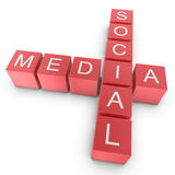 Red Social Media Crossword Concept Stock Photography