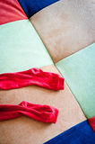 RED SOCKS Stock Photography