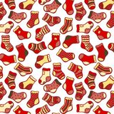 Red socks seamless pattern Royalty Free Stock Images