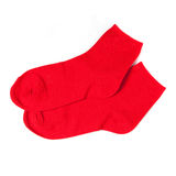 Red Socks On White Stock Image