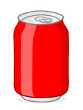 Red soda can doodle Royalty Free Stock Photography