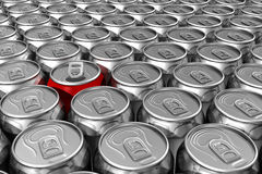 Red soda can standing out Royalty Free Stock Photo
