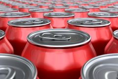 Red soda cans Royalty Free Stock Image