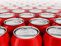Red soda cans Royalty Free Stock Photos