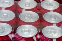 Red soda cans Royalty Free Stock Images