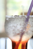 Red soda cocktail with ice Stock Photography