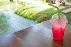 Red soda cold thirst. royalty free stock photo