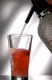 Red soda splash Royalty Free Stock Images