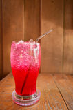 Red soda water Stock Photos